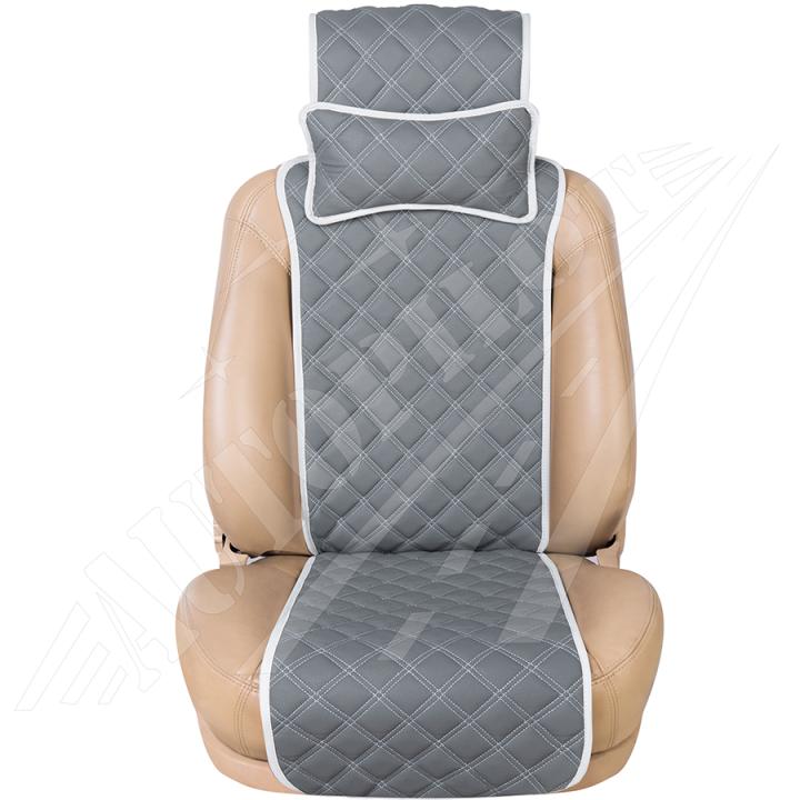Накидка на сиденье из кож/зама Aventador Серая изображение 1